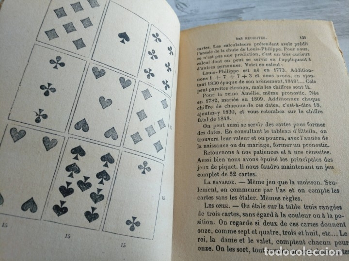 Libros antiguos: RARO: EL PORVENIR DESVELADO POR LAS CARTAS - LAVENIR DÉVOILÉ PAR LES CARTES - Foto 13 - 174581588