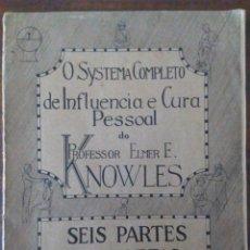 Libros antiguos: INFLUENCIA Y CURA PERSONAL. HIPNOSIS, CURA MAGNÉTICA,TELEPATÍA, QUIROMANCIA EN PORTUGUÉS. ILUSTRADO.. Lote 175072674