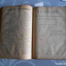 Libros antiguos: LIBRO DE ALLAN KARDEC 1874 ETC. Lote 175224985