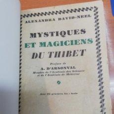 Libros antiguos: ALEXANDRA DAVID-NEEL. MYSTIQUED ET MAGICIENS DU THIBET. Lote 175495910