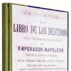 Libros antiguos: 1920C - LIBRO DE LOS DESTINOS - ORACULO DE NAPOLÉÓN - ESPECIAL OBSEQUIO. Lote 128329483