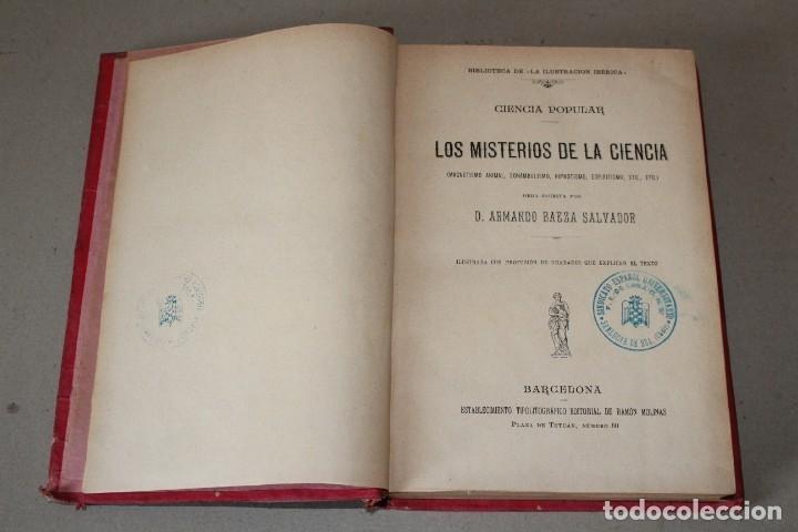 Libros antiguos: MISTERIOS DE LA CIENCIA (SONAMBULISMO, HIPNOTISMO, ESPIRITISMO ETC ETC) - ARMANDO BAEZA SALVADOR - - Foto 2 - 175701948