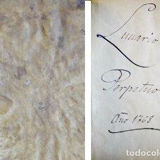 Libros antiguos: CORTÉS, JERÓNIMO. EL NON PLUS ULTRA DE EL LUNARIO Y PRONÓSTICO PERPETUO, GENERAL Y PARTICULAR...1768. Lote 177123433