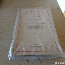 Libros antiguos: JAIME COTS Y GORCHS CONSUETUDINES DIOCESIS GERUNDENSIS 1929 LIBRERIA CASULLERAS 1929. Lote 178032368