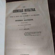 Libros antiguos: 1865. ENSAYO SOBRE LA MAGIA, PRODIGIOS Y MILAGROS. EUSEBIO SALVARTE. RELIGIÓN/HISTORIA/GRECIA/EGIPTO. Lote 178945332
