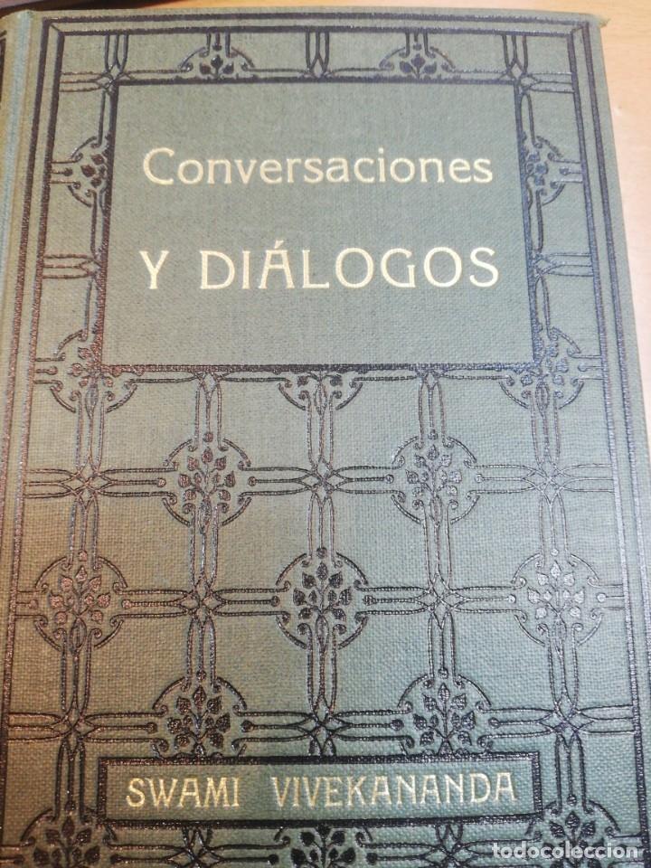 SWANI VIVEKANANDA. CONVERSACIONES Y DIÁLOGOS (Libros Antiguos, Raros y Curiosos - Parapsicología y Esoterismo)