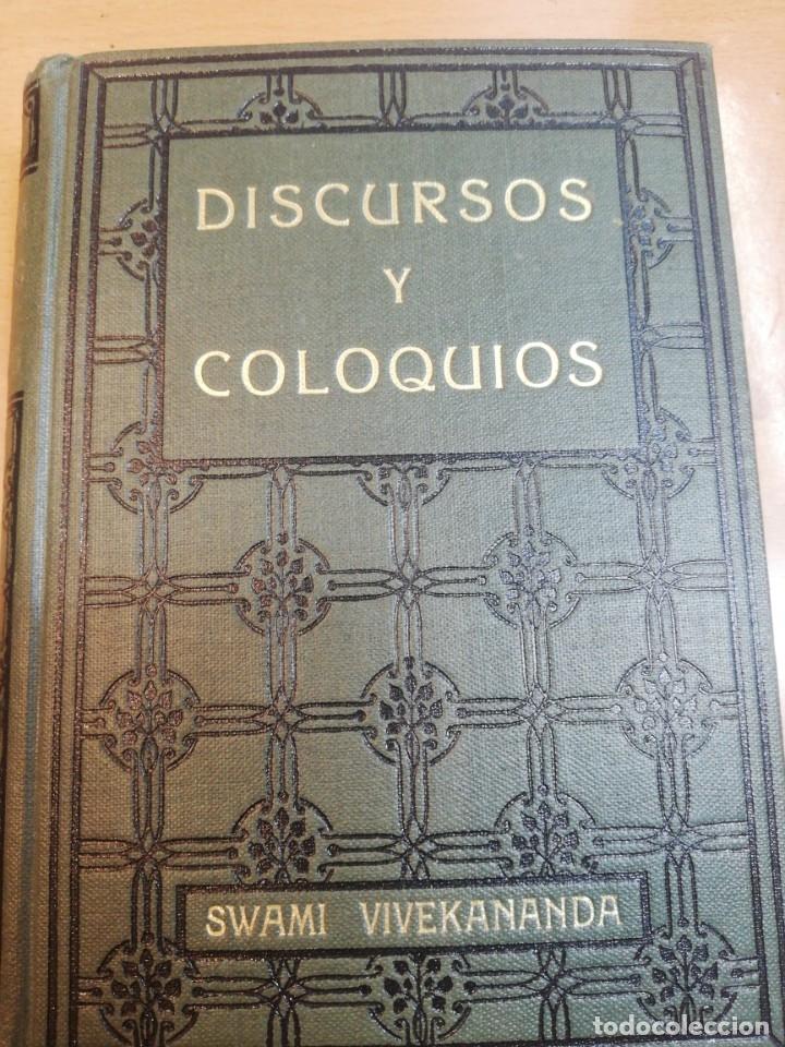 SWANI VIVEKANANDA. DISCURSOS Y COLOQUIOS (Libros Antiguos, Raros y Curiosos - Parapsicología y Esoterismo)