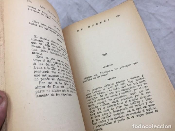 Libros antiguos: LOS ESCRITOS SAGRADOS DE HERMES LA DOCTRINA SECRETA DE LOS SACERDOTES EGIPCIOS ED BAUZA - Foto 5 - 182426805