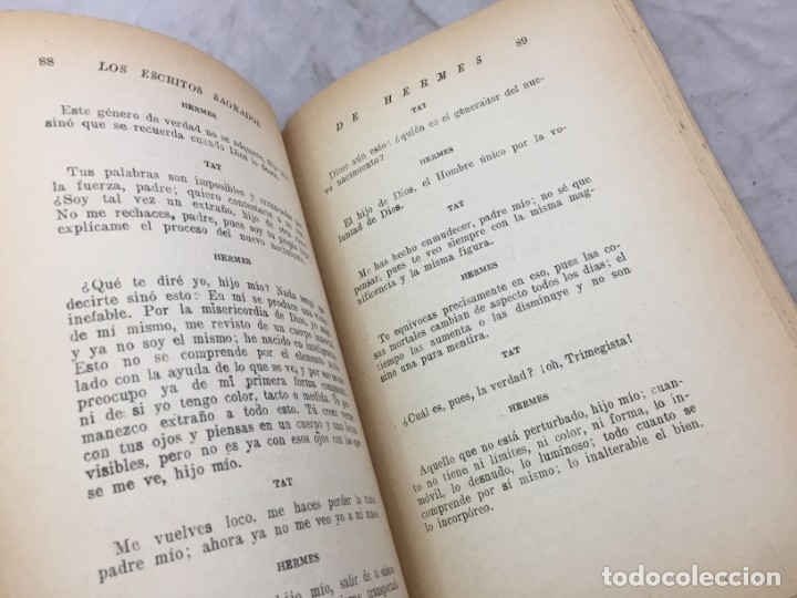 Libros antiguos: LOS ESCRITOS SAGRADOS DE HERMES LA DOCTRINA SECRETA DE LOS SACERDOTES EGIPCIOS ED BAUZA - Foto 7 - 182426805