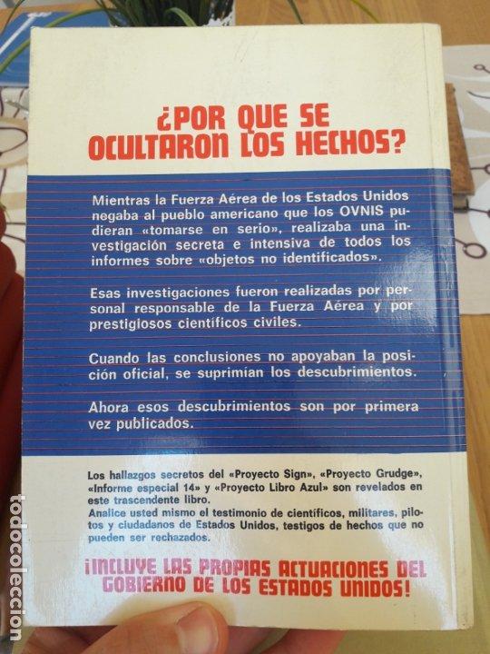 Libros antiguos: Ufologia. Proyecto libro azul, Brad Steiger. Edaf. 1977 RARISIMO - Foto 2 - 212371563