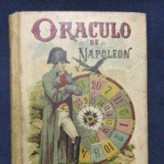 Libros antiguos: ORACULO DE NAPOLEON - SATURNINO CALLEJA - INCLUYE DESPLEGABLE - BUEN ESTADO - 12,2X8,6CM. Lote 182720438