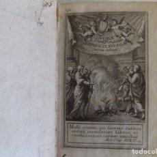 Libros antiguos: LIBRERIA GHOTICA. INDEX LIBRORUM PROHIBITORUM.BENEDICTI XIV. 1758.RARA EDICIÓN.PERGAMINO.. Lote 183435760