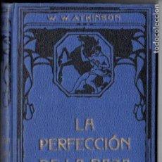 Libros antiguos: ATKINSON : LA PERFECCIÓN DE LA RAZA (FELIU Y SUSANNA, C. 1930). Lote 188488632