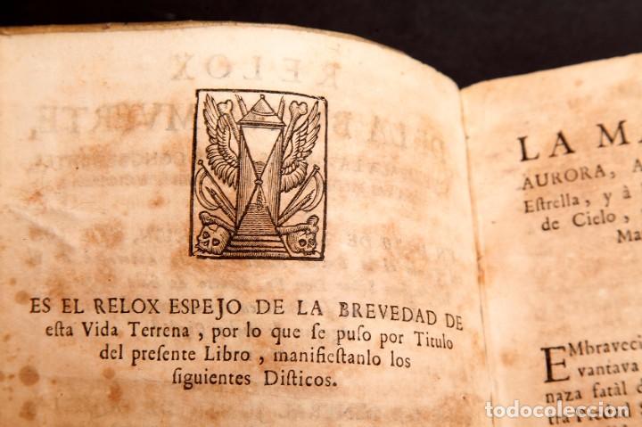 Libros antiguos: RELOX DE LA BUENA MUERTE - 1711 - PRIMERA EDICIÓN - CON TRES GRABADOS - Foto 8 - 188493308