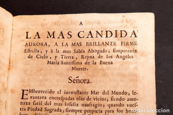 Libros antiguos: RELOX DE LA BUENA MUERTE - 1711 - PRIMERA EDICIÓN - CON TRES GRABADOS - Foto 9 - 188493308