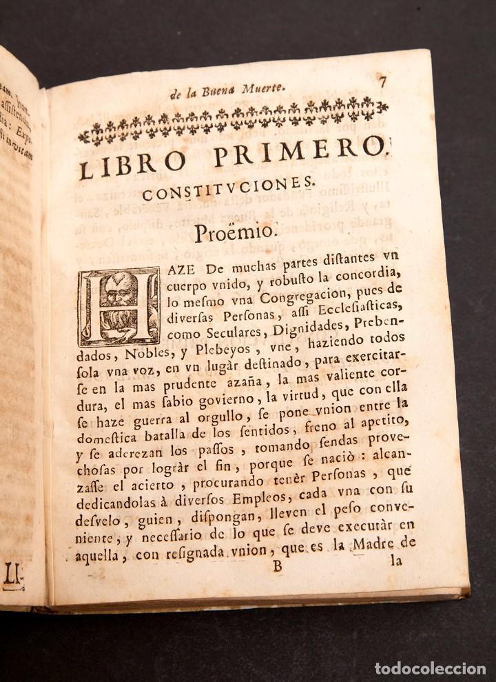 Libros antiguos: RELOX DE LA BUENA MUERTE - 1711 - PRIMERA EDICIÓN - CON TRES GRABADOS - Foto 10 - 188493308