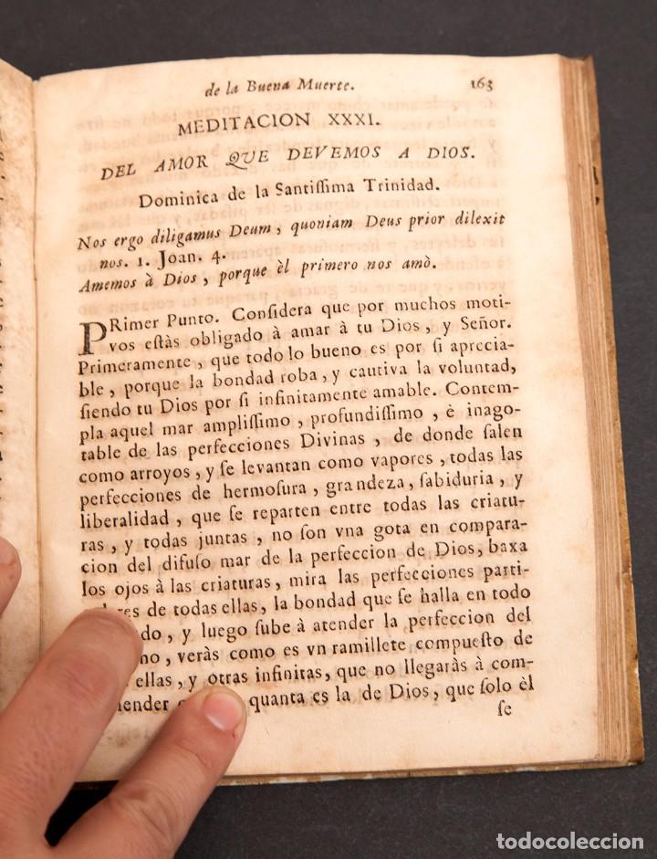 Libros antiguos: RELOX DE LA BUENA MUERTE - 1711 - PRIMERA EDICIÓN - CON TRES GRABADOS - Foto 12 - 188493308