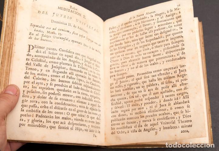 Libros antiguos: RELOX DE LA BUENA MUERTE - 1711 - PRIMERA EDICIÓN - CON TRES GRABADOS - Foto 14 - 188493308