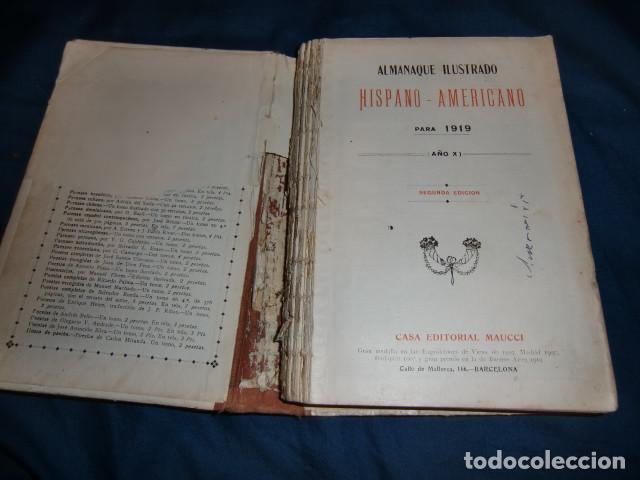 Libros antiguos: Almanaque ilustrado hispano-americano para 1919. Barcelona, 1919. segunda edicion - Foto 2 - 192357443