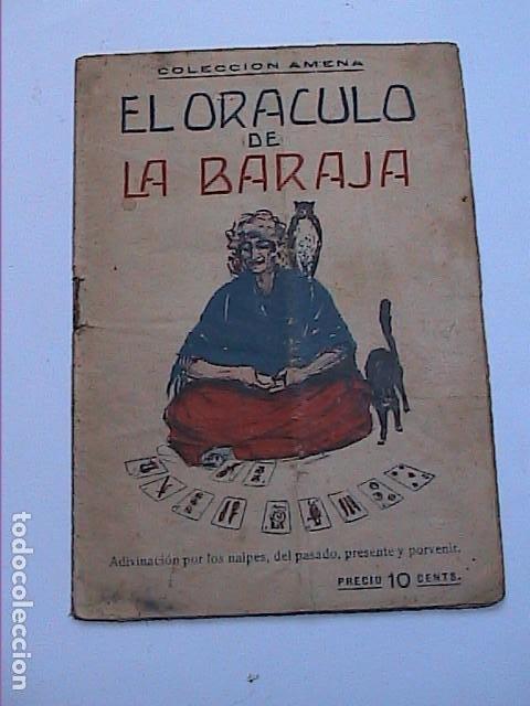 EL ORACULO DE LA BARAJA.1925. EDITOR LORENZO BAU BONAPLATA. BARCELONA. (Libros Antiguos, Raros y Curiosos - Parapsicología y Esoterismo)