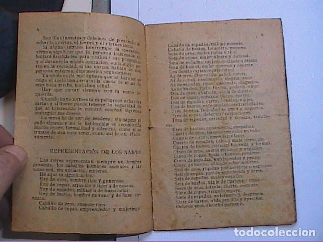 Libros antiguos: EL ORACULO DE LA BARAJA.1925. EDITOR LORENZO BAU BONAPLATA. BARCELONA. - Foto 3 - 192794312