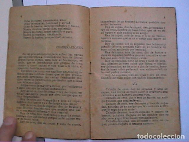 Libros antiguos: EL ORACULO DE LA BARAJA.1925. EDITOR LORENZO BAU BONAPLATA. BARCELONA. - Foto 4 - 192794312