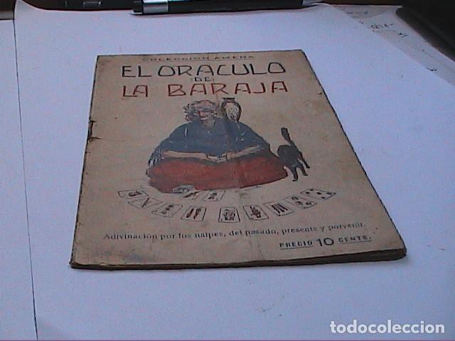 Libros antiguos: EL ORACULO DE LA BARAJA.1925. EDITOR LORENZO BAU BONAPLATA. BARCELONA. - Foto 6 - 192794312