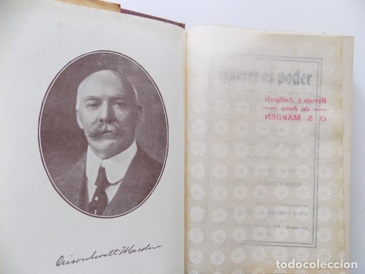 LIBRERIA GHOTICA. EDICIÓN MODERNISTA DE ORISON SWETT MARDEN. QUERER ES PODER. 1910. PRIMERA EDICIÓN. (Libros Antiguos, Raros y Curiosos - Parapsicología y Esoterismo)