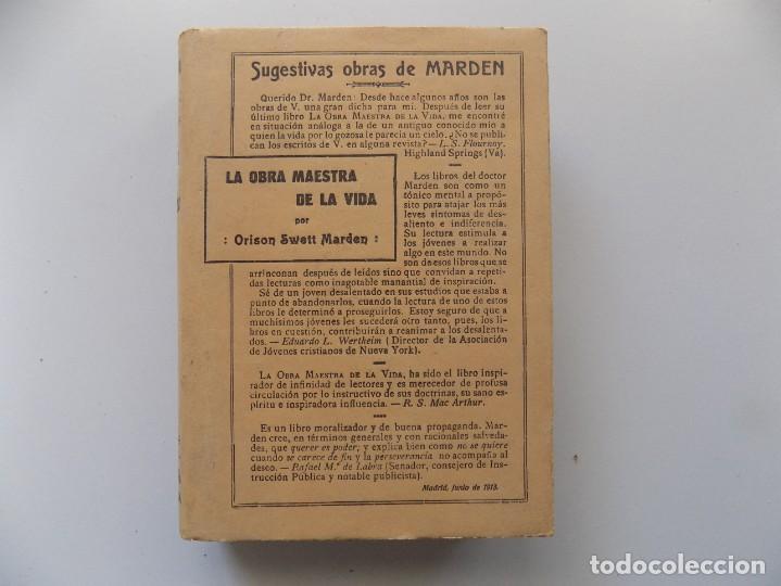 Libros antiguos: LIBRERIA GHOTICA.EDICIÓN MODERNISTA.ORISON SWETT MARDEN.OBRA MAESTRA DE LA VIDA.1910.PRIMERA EDICIÓN - Foto 2 - 194098038