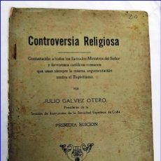 Libros antiguos: AÑO 1917. CONTROVERSIA CONTRA EL ESPIRITISMO. EDITADO EN LA HABANA. MUY RARO.. Lote 195135282