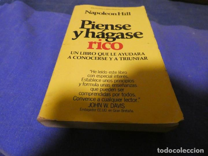 LIBRO MENOS 500 GRAMOS PIENSE Y HAGASE RICO NAPOLEON HILL FUNDAMENTAL (Libros Antiguos, Raros y Curiosos - Parapsicología y Esoterismo)