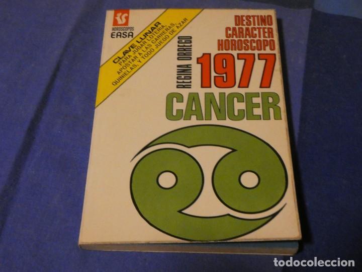 LIBRO MENOS DE 500 GRAMOS PREVISION HOROSCOPO PARA CANCER AÑO 1977 (Libros Antiguos, Raros y Curiosos - Parapsicología y Esoterismo)