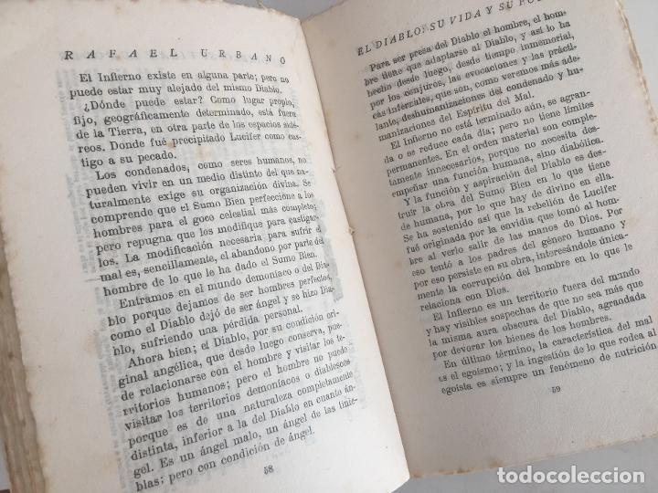 Libros antiguos: EL DIABLO SU VIDA Y SU PODER - RAFAEL URBANO - BIBLIOTECA DEL MAS ALLA - 1922 - GCH1 - Foto 5 - 195365566
