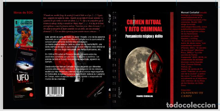 Libros antiguos: Libro CRIMEN RITUAL Y RITO CRIMINAL de Manuel Carballal. Colección CUADERNO DE CAMPO 4. MISTERIO - Foto 3 - 270519668