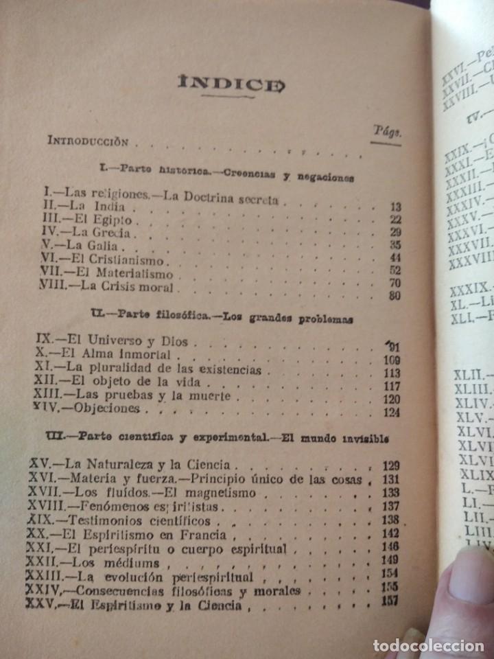 Libros antiguos: DESPUES DE LA MUERTE-EXPOSICION DE LA FILOSOFIA DE LOS ESPIRITUS-LEON DENIS-DE MAUCCI-1910-1920 - Foto 10 - 196880180