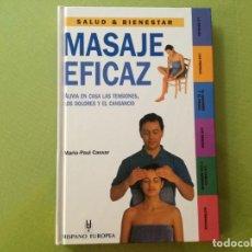 Libros antiguos: MARIO-PAUL CASSAR. MASAJE EFICAZ. Lote 200180283