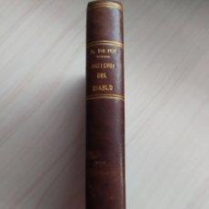 Libros antiguos: HISTORIA DEL DIABLO - DANIEL DE FOE. Lote 200802367