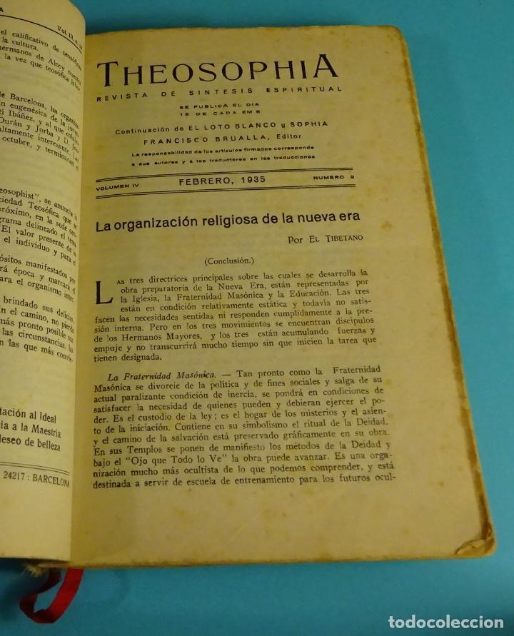 Libros antiguos: THEOSOPHIA. REVISTA DE SÍNTESIS ESPIRITUAL. AÑO 1934 Nº 10 - 1935 2, 7, 8, 9, 10, 11, 12 - 1936 Nº 6 - Foto 2 - 202913505
