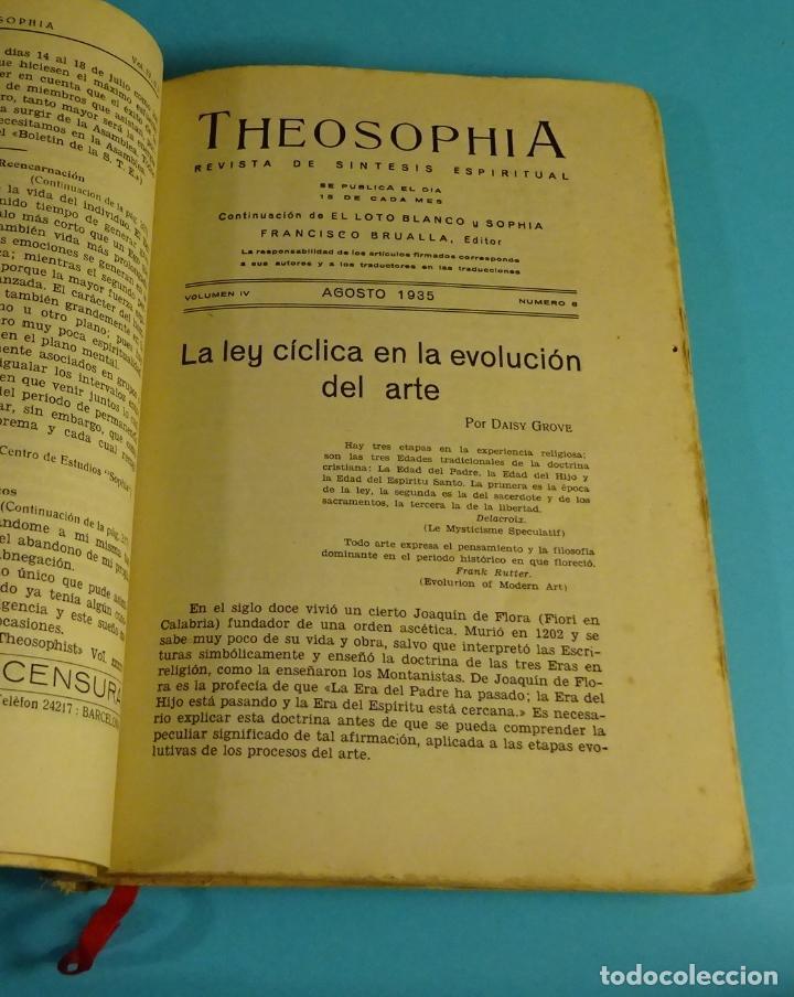 Libros antiguos: THEOSOPHIA. REVISTA DE SÍNTESIS ESPIRITUAL. AÑO 1934 Nº 10 - 1935 2, 7, 8, 9, 10, 11, 12 - 1936 Nº 6 - Foto 4 - 202913505