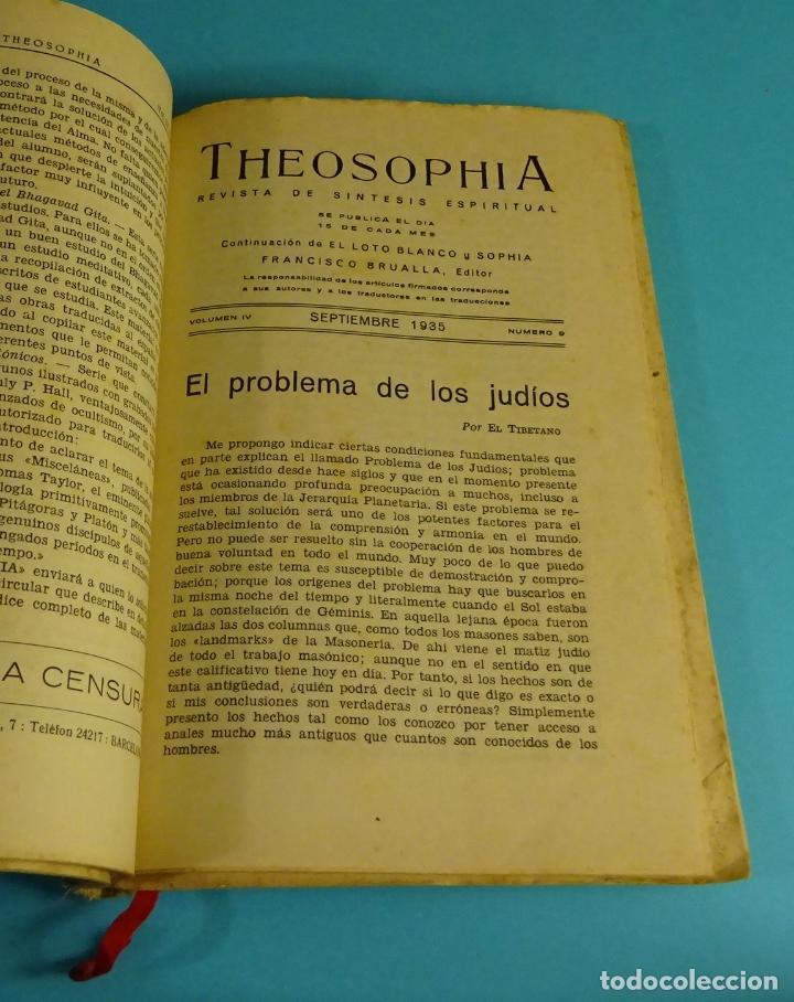 Libros antiguos: THEOSOPHIA. REVISTA DE SÍNTESIS ESPIRITUAL. AÑO 1934 Nº 10 - 1935 2, 7, 8, 9, 10, 11, 12 - 1936 Nº 6 - Foto 5 - 202913505