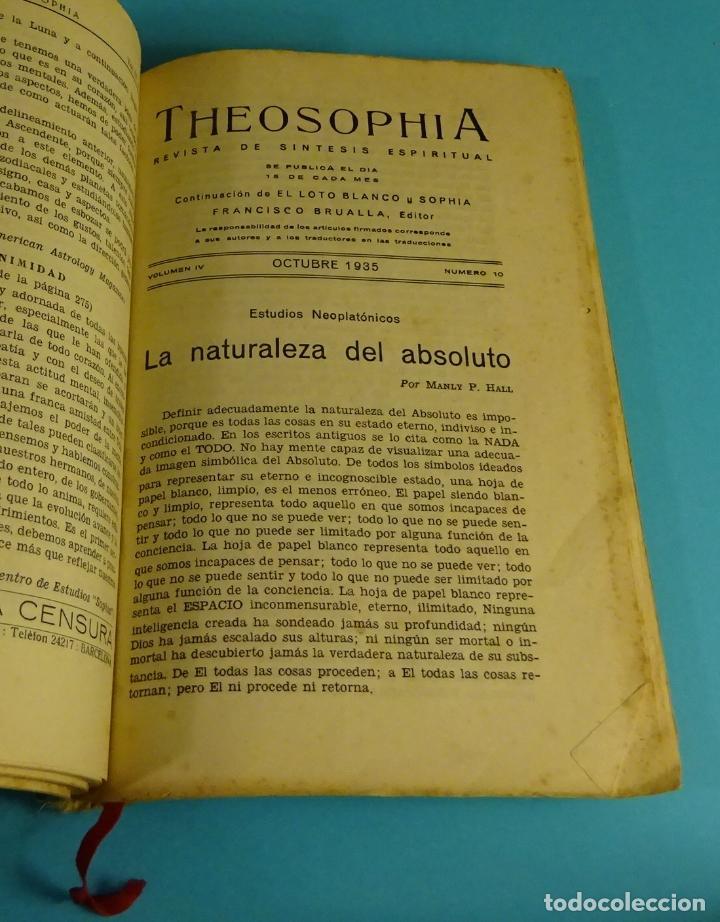 Libros antiguos: THEOSOPHIA. REVISTA DE SÍNTESIS ESPIRITUAL. AÑO 1934 Nº 10 - 1935 2, 7, 8, 9, 10, 11, 12 - 1936 Nº 6 - Foto 6 - 202913505