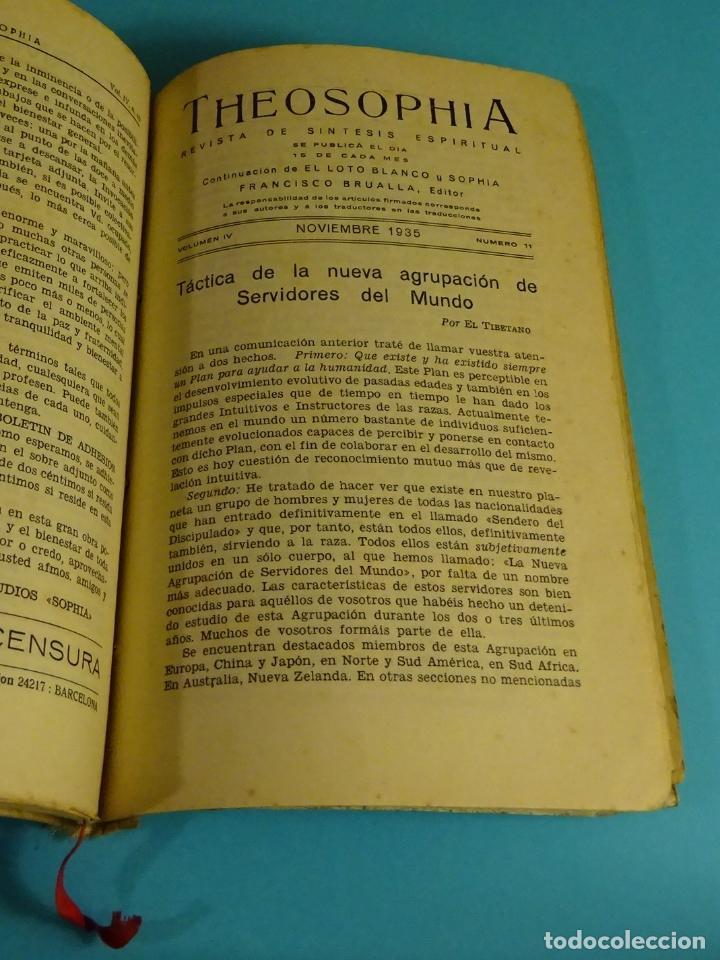 Libros antiguos: THEOSOPHIA. REVISTA DE SÍNTESIS ESPIRITUAL. AÑO 1934 Nº 10 - 1935 2, 7, 8, 9, 10, 11, 12 - 1936 Nº 6 - Foto 7 - 202913505