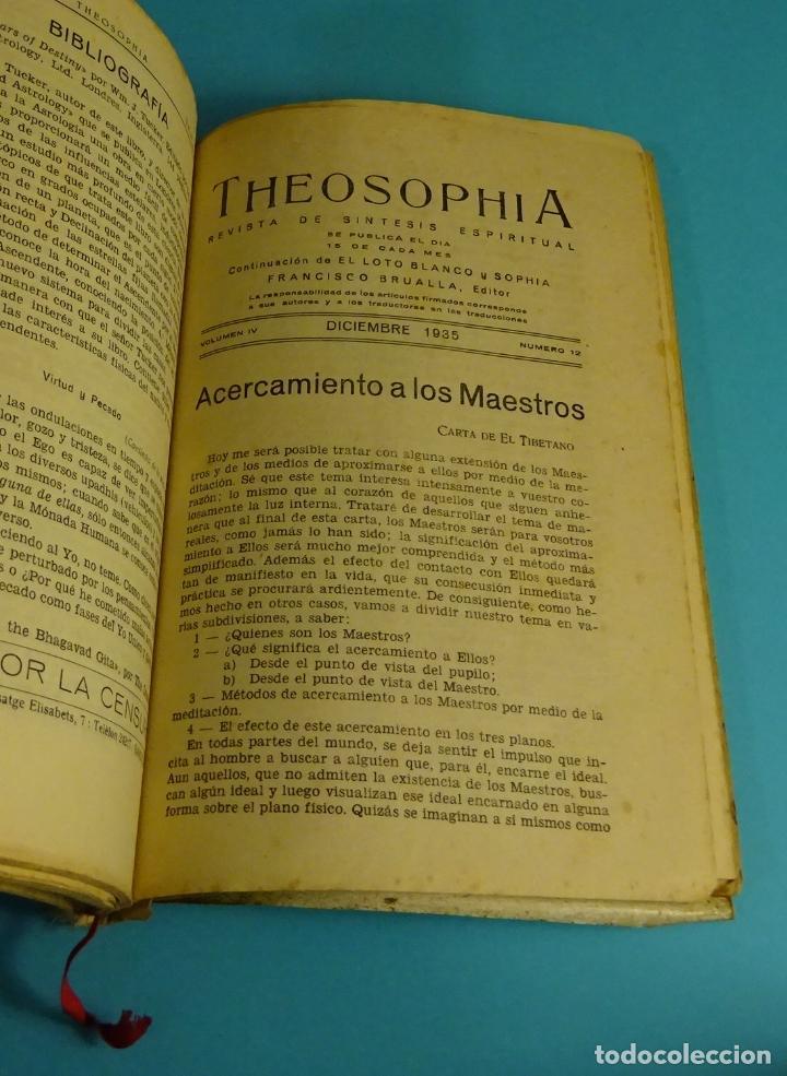 Libros antiguos: THEOSOPHIA. REVISTA DE SÍNTESIS ESPIRITUAL. AÑO 1934 Nº 10 - 1935 2, 7, 8, 9, 10, 11, 12 - 1936 Nº 6 - Foto 8 - 202913505