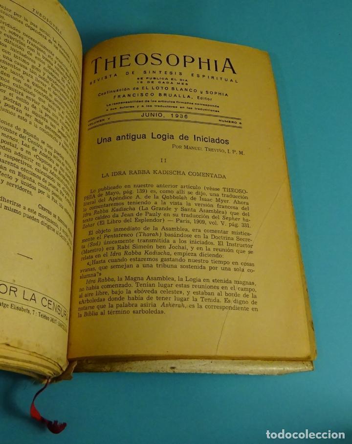 Libros antiguos: THEOSOPHIA. REVISTA DE SÍNTESIS ESPIRITUAL. AÑO 1934 Nº 10 - 1935 2, 7, 8, 9, 10, 11, 12 - 1936 Nº 6 - Foto 9 - 202913505