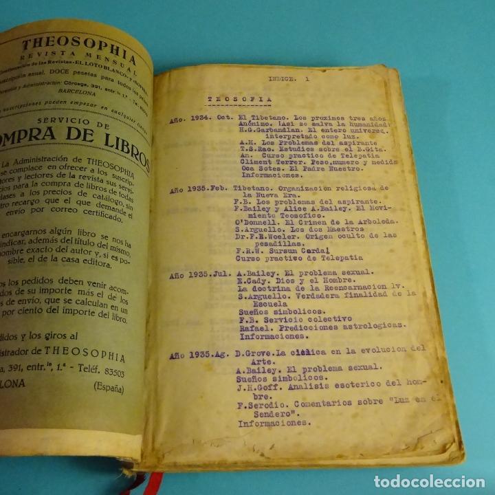Libros antiguos: THEOSOPHIA. REVISTA DE SÍNTESIS ESPIRITUAL. AÑO 1934 Nº 10 - 1935 2, 7, 8, 9, 10, 11, 12 - 1936 Nº 6 - Foto 10 - 202913505