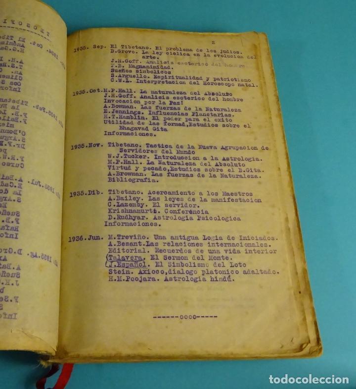 Libros antiguos: THEOSOPHIA. REVISTA DE SÍNTESIS ESPIRITUAL. AÑO 1934 Nº 10 - 1935 2, 7, 8, 9, 10, 11, 12 - 1936 Nº 6 - Foto 11 - 202913505
