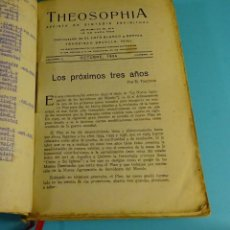 Libros antiguos: THEOSOPHIA. REVISTA DE SÍNTESIS ESPIRITUAL. AÑO 1934 Nº 10 - 1935 2, 7, 8, 9, 10, 11, 12 - 1936 Nº 6. Lote 202913505