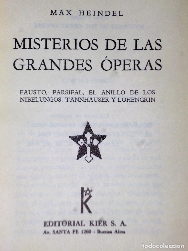 Libros antiguos: MISTERIOS DE LAS GRANDES ÓPERAS - Foto 2 - 203851568