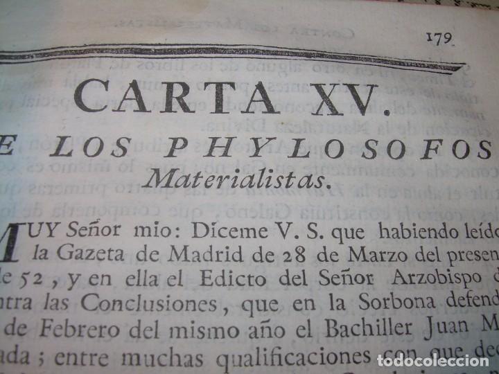 Libros antiguos: LIBRO TAPAS DE PIEL.....AÑO 1.774...BENITO FEYJOO.....VAMPIRISMO, MASONERIA,. ETC. - Foto 28 - 50944368