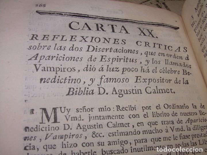 Libros antiguos: LIBRO TAPAS DE PIEL.....AÑO 1.774...BENITO FEYJOO.....VAMPIRISMO, MASONERIA,. ETC. - Foto 31 - 50944368